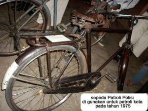sepeda patroli kota tahun 1975